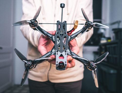 Drone FPV finalmente montado